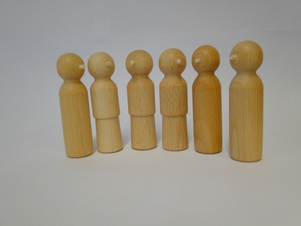 Holz-Nasenfiguren Set 5 (Kinder)