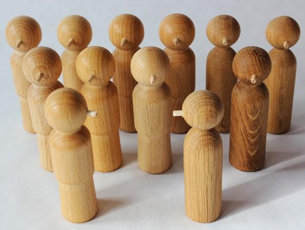 Holz-Nasenfiguren Set 3 (Erwachsene)