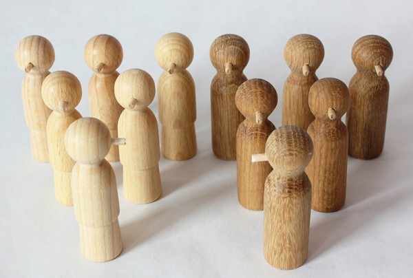 Holz-Nasenfiguren Set 2 (Kinder)