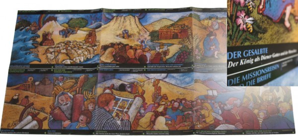 Bibel-Geschichtenbalken Faltblatt